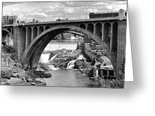 Monroe St Bridge Of Spokane Greeting Card