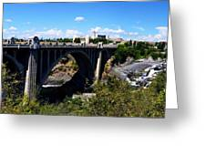 Monroe Street Bridge - Spokane Greeting Card