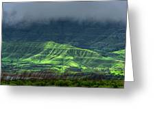 Monsoon Over Mountains Greeting Card