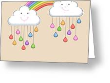 Monsoon Season Background With Happy Greeting Card