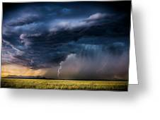 Monsoon Storm With A Multiple Lightning Greeting Card