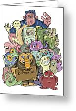 Monster Compilation Greeting Card