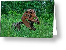 Monster In The Grass Greeting Card