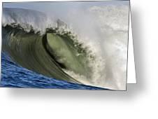 Monster Surf At Mavericks Point In Half Moon Bay California Greeting Card