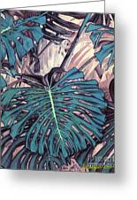 Monstera Blues Greeting Card