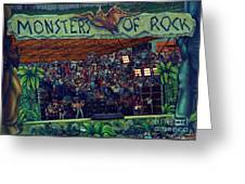 Monsters Of Rock Stage While A C D C Started Their Set - July 1979 Greeting Card