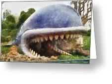 Monstro The Whale At Disneyland All Teeth Photo Art Greeting Card