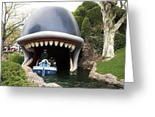 Monstro The Whale Boat Ride At Disneyland Greeting Card