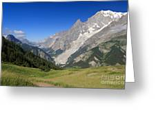 mont Blanc from Ferret valley Greeting Card