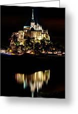Mont Saint Michel At Night 1 Greeting Card