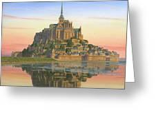 Mont Saint-michel Morn Greeting Card by Richard Harpum