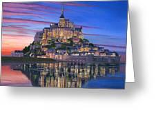 Mont Saint-michel Soir Greeting Card by Richard Harpum