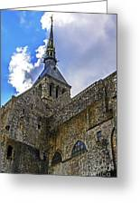 Mont St Michel Tower Greeting Card