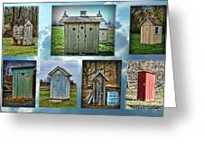 Montage Of Outhouses Greeting Card
