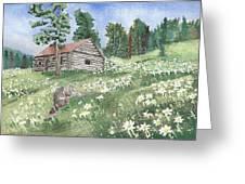 Montana Cabin Greeting Card