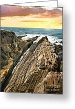 Montana De Oro Shore Greeting Card