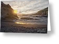 Montana De Oro Sunset II Greeting Card
