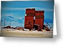 Montana Mountaintown Greeting Card
