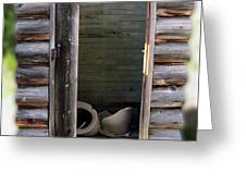 Montana Outhouse 02 Greeting Card