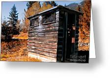 Montana Outhouse 03 Greeting Card