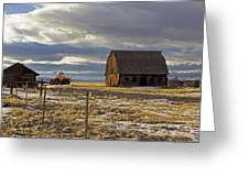 Montana Rural Scenery Greeting Card by Dana Moyer