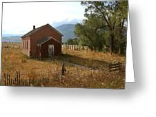 Montana Schoolhouse Greeting Card