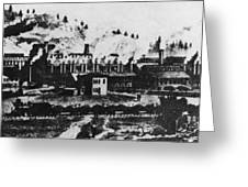 Montana Smelting, 1880s Greeting Card
