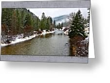 Montana Winter Frame Greeting Card