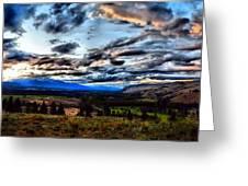 Montanta Sunset Greeting Card