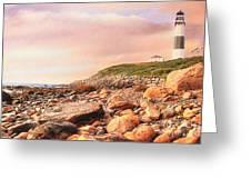 Montauk Point Lighthouse Greeting Card