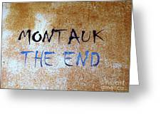 Montauk-the End Greeting Card