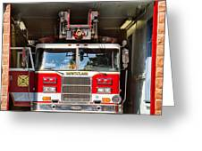 Montclair Fire Truck Greeting Card