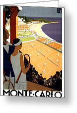 Monte-carlo - Travel Poster For Plm - 1930 Greeting Card