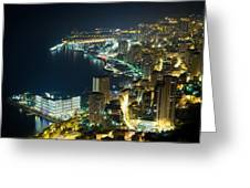Monte Carlo By Night  Greeting Card