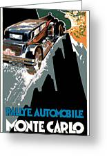 Monte Carlo - Vintage Poster Greeting Card