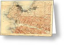 Monterey And Carmel Valley  Monterey Peninsula California  1912 Greeting Card