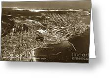 Aerial Of Monterey And Pacific Grove  California Oct. 25 1934 Greeting Card