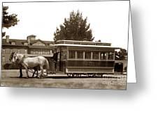 Monterey And Pacific Grove Street Railway Circa 1895 Greeting Card