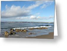 Monterey Bay Beach Scenic View Greeting Card