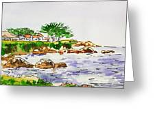 Monterey- California Sketchbook Project Greeting Card by Irina Sztukowski