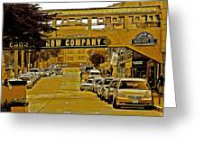Monterey Cannery Row Company Greeting Card