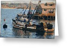Monterey Fish Company Abstract Greeting Card