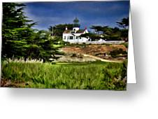 Monterey Lighthouse Greeting Card