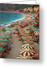 Monterosso Beach Greeting Card