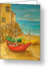 Monterosso On Riviera Di Levante Greeting Card
