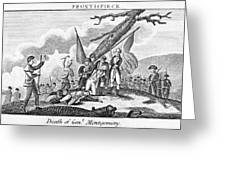Montgomerys Death, 1775 Greeting Card