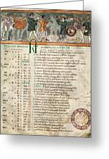 Month Of December, Anglo-saxon Calendar Greeting Card