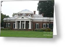 Monticello - Thomas Jeffersons Home Greeting Card