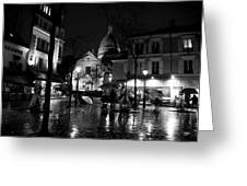 Montmartre Black And White W  Greeting Card