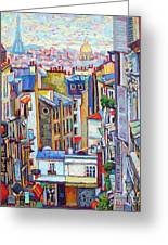 Montmartre View Greeting Card